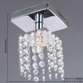 Mini Semi Flush Mount in Crystal Chandelier Light Lamp Lighting Chrome Finish 220-240V