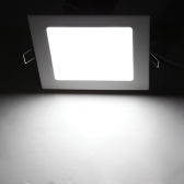 12W AC 86-265V Ultra Thin Square Ceiling Panel Light Wall Recessed Down Lamp 900LM SMD2835 LED Pure White