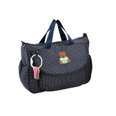 Soft Pure Cotton Baby Diaper Shoulder Bag Mummy Handbag with Coin Purse Changing Pad Liner Feeding Bottle Container Large Capacity