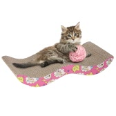 Festnight New Pet Cat Scratch Board Kitten Corrugated Pad Cats Toy Scratcher Bed Mat Claws Care Interactive Toy Scratching Post For Pet Cat Training