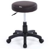 IKAYAA PU Leather Swivel Bar Stool Chair Height Adjustable Pneumatic Counter Pub Chair Barstools Heavy-duty