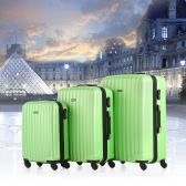 "TOMSHOO Fashion 3 Piece Luggage Set Carry-on Suitcase ABS Trolley 20""/24""/28"" Hard Shell Combination Lock 4 Wheel Spinner Set"