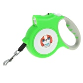 16 Feet Nylon Retractable Dog Leash with LED Light for Puppy Pet Walking Training Belt Cord Lock & Automatic Retracting Button