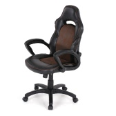 IKAYAA Fashion PU Leather Racing Style Executive Office Chair Adjustable 360°Swivel High Back Computer Task Desk Chair Bucket Seat Design