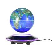 """6"""" LED Floating Maglev Globe Awesome Magnetic Levitation Globe Excellent Desktop Decor Tellurion"""