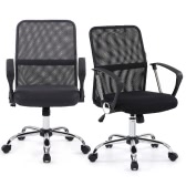 IKAYAA Ergonomic Adjustable Mesh Office Executive Chair Stool 360°Swivel Computer Task Chair Office Furniture with SGS Intertek Testing Report