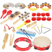 Percussion Set Kids Children Toddlers Musical Toys Instruments Band Rhythm Kit with Carrying Bag