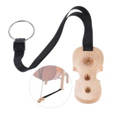 Hardwood Cello Endpin Non-slip Stop Holder Rest Anchor Protector Pad Cello Shape Burlywood Color