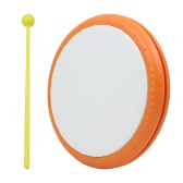 """8"""" Plastic Hand Drum One Head with Drum Stick Percussion Musical Educational Toy Instrument"""