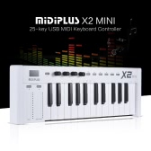 MIDIPLUS X2 mini 25-key USB MIDI Keyboard Controller LED Display with USB Cable