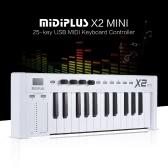 MIDIPLUS X2 mini 25-key USB MIDI Keyboard Controller LED Display with USB Cable