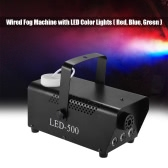 Colorful 400 Watt Fogger Fog Smoke Machine with LED Color Lights(Red, Blue, Green) Wired Remote Contol for Party Live Concert DJ Bar KTV Stage Effect