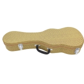 "21"" Crack Leather Hardshell Case Bag Box with Plush Interior and Storage for Soprano Ukulele"