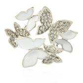 Fashion Zinc Metallic Rhinestone Crystal Scarf Shawl Buckle Brooch Pin Clip Ring for Women Gift