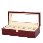 6-Slot Watch Display Box Noble Piano Lacquer Wristwatch Jewelry Storage Organizer Accessories
