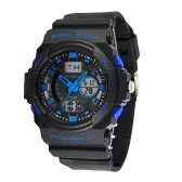 SYNOKE Big Dial 5ATM Water-proof Men Sports Watch Dual Time Display