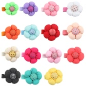 15Pcs Cute Sweet Lovely Flower Dot Pattern Hair Clip for Kids Baby Girls Toddlers and Infants