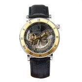 IK COLOURING Automatic Mechanical Watch Skeleton Transparent Hollowed-out Wristwatch 5ATM Water Resistant