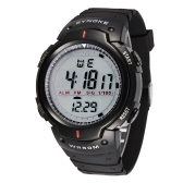 SYNOKE Big Dial 5ATM Water-proof Men Sports Watch Multi-function Night Light Countdown Alarm Chronograph Student Watch