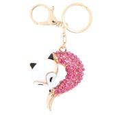 Fashional Jewelry Hollow Shinning Rhinestone Fox Pendant Key Ring Key Chain