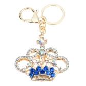 Fashional Jewelry Hollow Shinning Rhinestone Aureate Crown Pendant Key Ring Key Chain