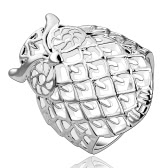 Romacci Elegant Animal Modelling Shinning Silver Owl Finger Ring Jewelry