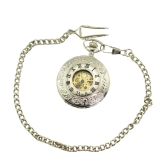 Double Open Case Luxury Men Pocket Watch Roman Number Hollow Semi-auto Mwchanical Vintage Fob Pocket Watch