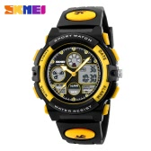 SKMEI High Quality Children Sports Wristwatch Dual Movements 5ATM Water-proof Kids Watch with Alarm Chronograph Back Light