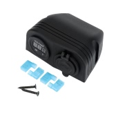 Dual USB Car Cigarette Lighter Socket Splitter Charger Power Adapter + Digital Voltmeter
