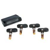 Wireless Solar Car TPMS Tire Pressure Monitoring System with 4 Internal Sensors Bar/PSI Unit