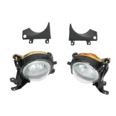 1 Pair Left & Right Front Fog Light without Bulbs Replacement Kit for BMW E39 1999-2004