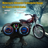 LED Digital Backlight Motorcycle Odometer Speedometer Tachometer Gauge for Honda CG-125 Series