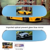 """5"""" 1080P Android Smart System Built in GPS Navigation WIFI Car Rearview Mirror Dual Lens Car DVR Camera Recorder with Free Map"""