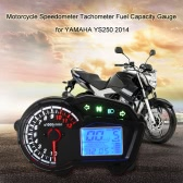 LCD Digital Multifunctional Motorcycle Speedometer Tachometer Fuel Capacity Gauge for YAMAHA Fazer YS250 2014