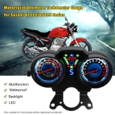LED Digital Backlight Motorcycle Odometer Speedometer Tachometer Gauge for Suzuki QS125/GS125 Series