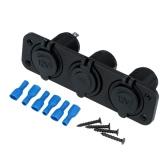 Dual USB Car Cigarette Lighter Socket Splitter Charger Power Adapter + 2 Power Sockets