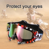 Motorcycle Racing Riding Cycling Goggles Outdoor Ski Wind-proof Antifog Glass Transparent Lens