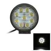 KKMOON 27W LED Car Work Light Bar 4.3 Inch Round Spot Beam for Jeep 4x4 Offroad ATV Truck SUV 12V 24V