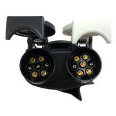 Tirol 13Pin Plug to 7Pin Socket N/S Type Trailer Plug Socket 12V