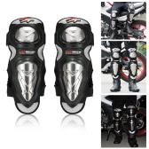 PRO-BIKER Knee Shin Protector Motorcycle Racing Knee Guards Protective Pads for Skating Skateboard Sports Safety