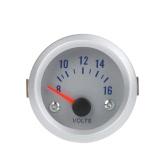 """Voltage Meter Gauge Voltmeter for Auto Car 2"""" 52mm 8-16V Blue Light"""