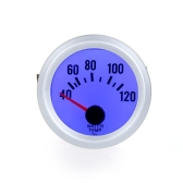"""Water Temperature Meter Gauge with Sensor for Auto Car 2"""" 52mm 40~120Celsius Degree Blue LED Light"""