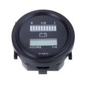 12V/24V/36V/48V/72V LED Digital Battery Status Charge Indicator with Hour Meter Gauge