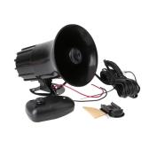 7 Sounds Tone Car Motorcycle Truck Horn 12V 50W 150DB Electronic Speaker Loud Siren Alarm Loudspeaker Black
