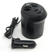 Tirol New Auto Cigarette Charger 2 Way Twin USB Cup Power Splitter Adapter 5V/2A