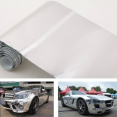 6″ * 60″ Chrome Mirror Silver Vinyl Wrap Sticker Decal Film Sheet Self-adhesive Air Bubble Free