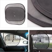 2Pcs Car Window Sunshade Visor Black Mesh Folding Shield Sun Screen