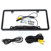 8 LED Car 1/4 CMOS 480TVL Waterproof License Plate Frame with Rearview HD Camera Night Vision Back Car Parking Viewer for US License Plate
