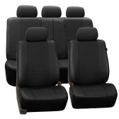 Tirol New Universal Car Seat Covers PU Leather 11PCS/Set Front Rear Cover Set for Crossovers SUV Sedans
