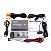 DVB-T Mini Various Channel Mobile Car Digital TV Box Analog TV Tuner High Speed 240km/h Strong Signal Receiver with 2 Antenna